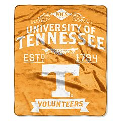 Tennessee Volunteers Label Raschel Throw by Northwest