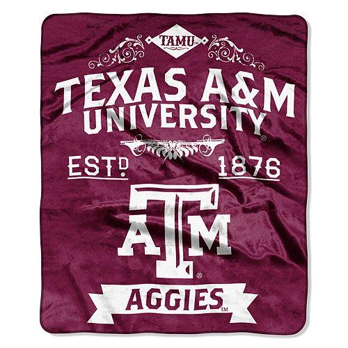 Texas A&M Aggies Label Raschel Throw by Northwest