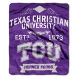 TCU Horned Frogs Label Raschel Throw by Northwest