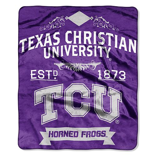 TCU Horned Frogs Label Raschel Throw by Northwest