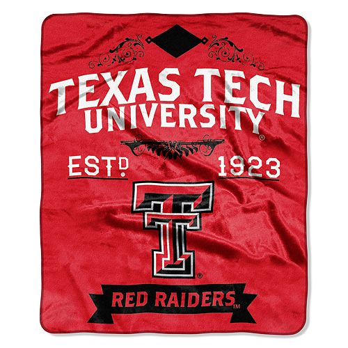 Texas Tech Red Raiders Label Raschel Throw by Northwest
