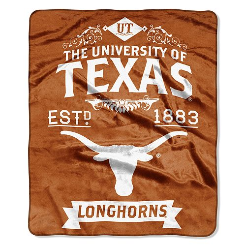 Texas Longhorns Label Raschel Throw by Northwest