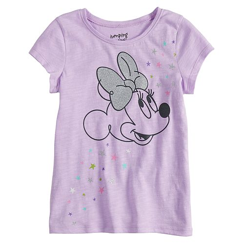 Disney's Minnie Mouse Girls 4-10 Glittery Graphic Short-Sleeve Tee by Jumping Beans®