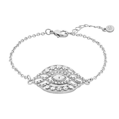 LC Lauren Conrad Simulated Crystal Medallion Bracelet