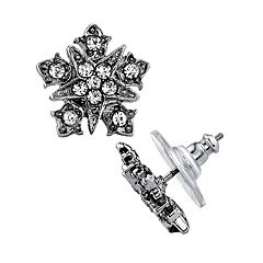 Downton Abbey Simulated Crystal Starburst Stud Earrings