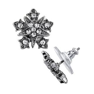 Downton Abbey Simulated Crystal Starburst Stud Earrings