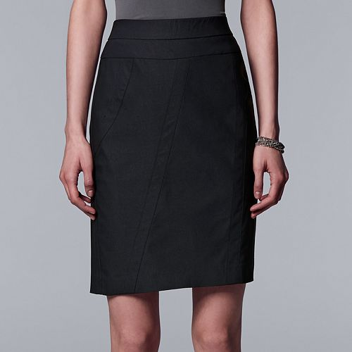 Women's Simply Vera Vera Wang Modern Seamed Pencil Skirt