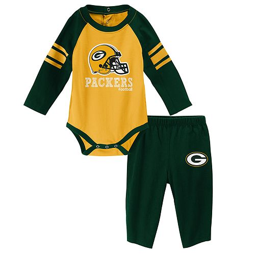 Baby Green Bay Packers Future Starter Bodysuit & Pants Set