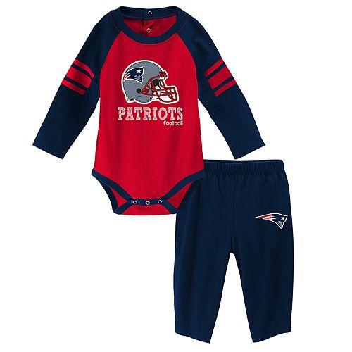 Baby New EnglandPatriots Future Starter Bodysuit & Pants Set