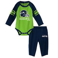Baby Seattle Seahawks Future Starter Bodysuit & Pants Set