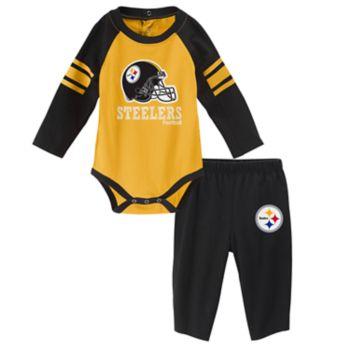 Baby Pittsburgh Steelers Future Starter Bodysuit & Pants Set