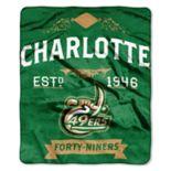Charlotte 49ers Label Raschel Throw by Northwest