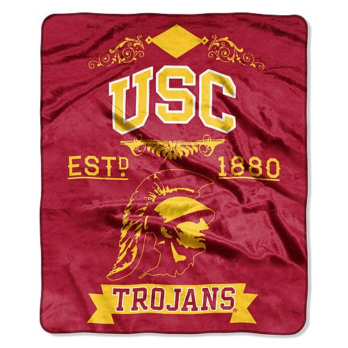 USC Trojans Label Raschel Throw by Northwest