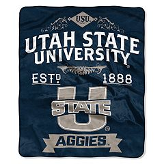 Utah State Aggies Label Raschel Throw by Northwest