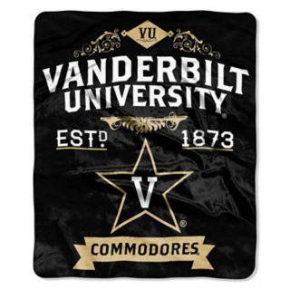 Vanderbilt Commodores Label Raschel Throw by Northwest