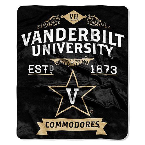 Vanderbilt Commodores Label Raschel Throw by Northwest