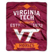 Virginia Tech Hokies Label Raschel Throw by Northwest