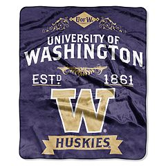 Washington Huskies Label Raschel Throw by Northwest