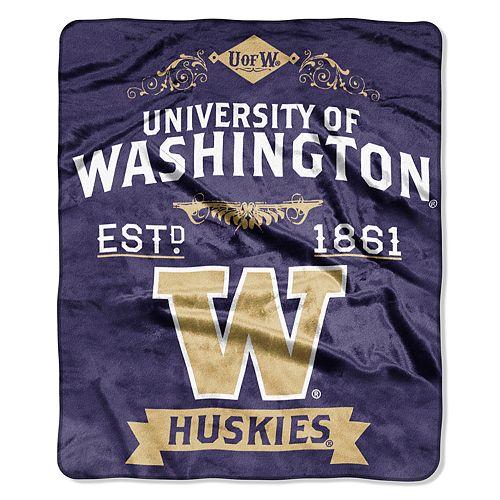 Washington Huskies Label Raschel Throw by Northwest