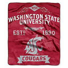 Washington State Cougars Label Raschel Throw by Northwest