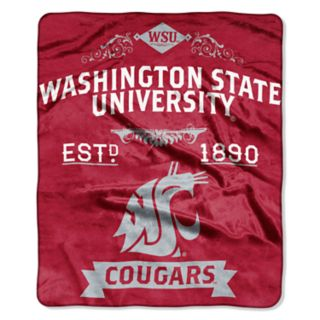 Washington State Cougars Label Raschel Throw by Northwest