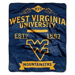 West Virginia Mountaineers Label Raschel Throw by Northwest