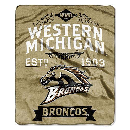 Western Michigan Broncos Label Raschel Throw by Northwest