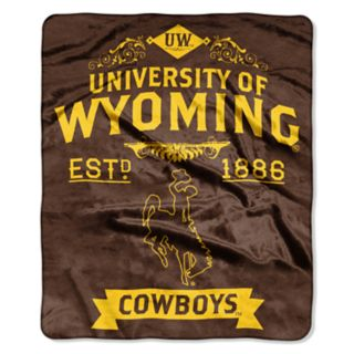 Wyoming Cowboys Label Raschel Throw by Northwest