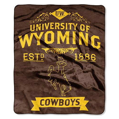 Wyoming Cowboys Label Raschel Throw by Northwest