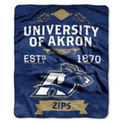 Akron Zips Label Raschel Throw by Northwest