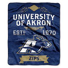 Akron Zips Label Raschel Throw by Northwest