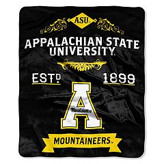 Appalachian State Mountaineers Label Raschel Throw by Northwest