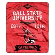 Ball State Cardinals Label Raschel Throw by Northwest