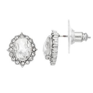 LC Lauren Conrad Simulated Crystal Nickel Free Halo Stud Earrings