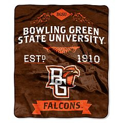 Bowling Green Falcons Label Raschel Throw by Northwest