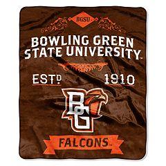 Bowling Green Falcons Label Raschel Throw by Northwest