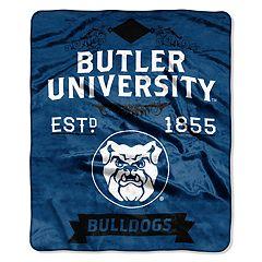 Butler Bulldogs Label Raschel Throw by Northwest