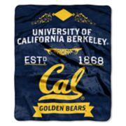 Cal Golden Bears Label Raschel Throw by Northwest