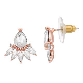 LC Lauren Conrad Simulated Crystal Nickel Free Drop Earrings