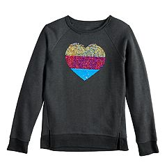 Girls 7-16 SO® Flip Sequin Sweatshirt