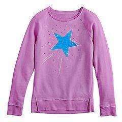 Girls 7-16 SO® Flip Sequin Sweatshirt
