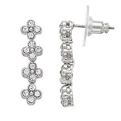 LC Lauren Conrad Simulated Crystal Nickel Free Linear Drop Earrings