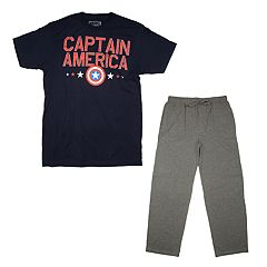 Men's Captain America Shield Tee & Sleep Pants Set