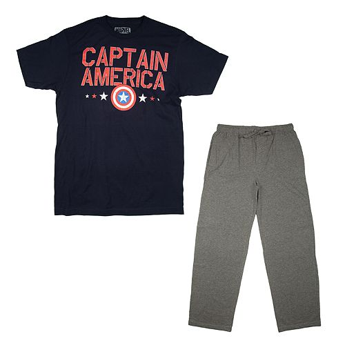 Men's Captain America Shield Tee & Sleep Pants Set
