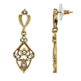 Downton Abbey Simulated Crystal Drop Earrings
