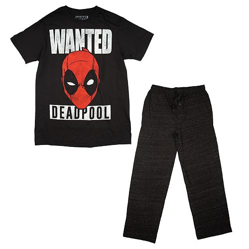 "Men's Marvel Deadpool ""Wanted"" Tee & Sleep Pants Set"