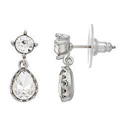 LC Lauren Conrad Simulated Crystal Nickel Free Teardrop Earrings