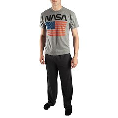 Men's NASA with American Flag Tee & Sleep Pants Set