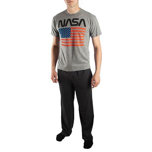 Men's NASA with American Flag Tee & Sleep Pants Set