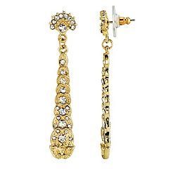 Downton Abbey Simulated Crystal Linear Drop Earrings